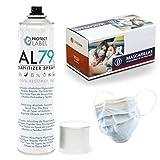 Spray Hidroalcohólico 1 x 500ml. Manos y Superficies 79% + Caja 50 Desechables