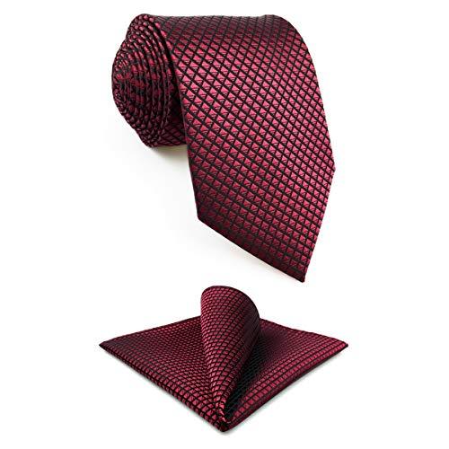 Shlax & Wing Extra Lang Größe Hochzeit Mehrfarbig Einfarbig Color Rot Crimson Herren Krawatte Seide