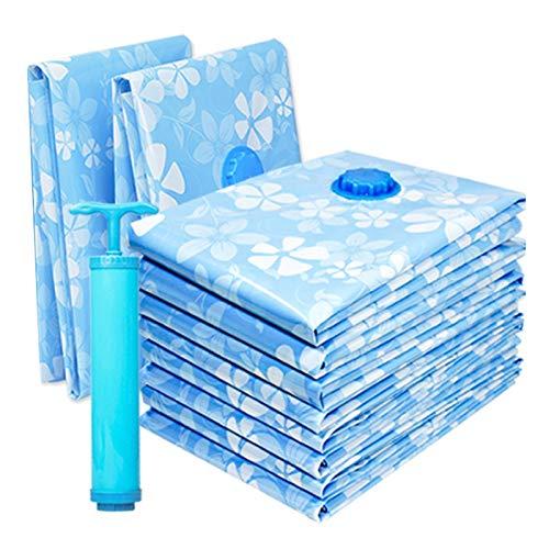 Huante - Bolsa de almacenaje al vacío para bolsa de compresión de tela con bomba de una mano y bolsa de almacenamiento para edredón reutilizable