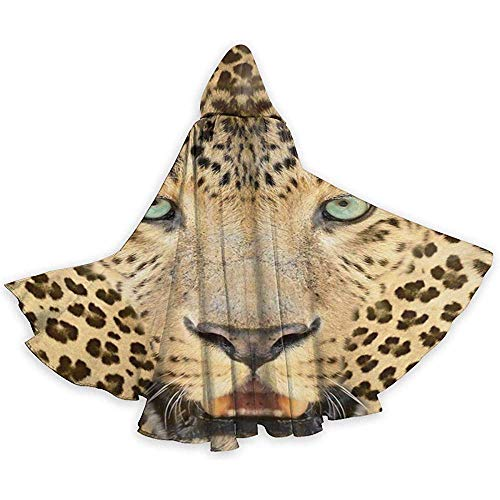 Niet van toepassing Volwassen Tuniek Hooded, Halloween Cape Cloak,Role Play Dress Up,Cosplay Costume,Wild Tiger Leopard Devil Witch Wizard Cape,Vampire Costume,Party Hooded Cloak