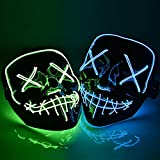 Best Led Masks - My Party Suppliers Halloween LED Masks Light up Review