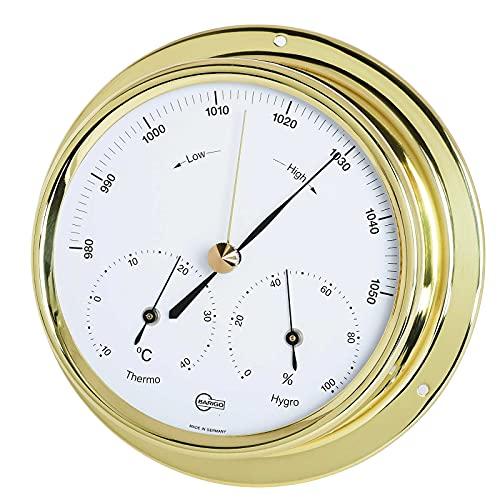 Barigo Wetterstation Analog Barometer Thermometer Hygrometer Maritim Messing