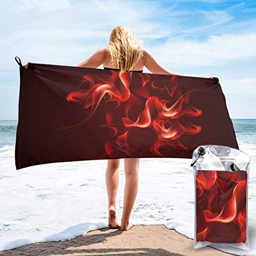 shenguang Red Flame Printed Travel Quick Dry Bath Towels Sports Gym Microfiber Beach Towels Camping Swimming Compact Towel