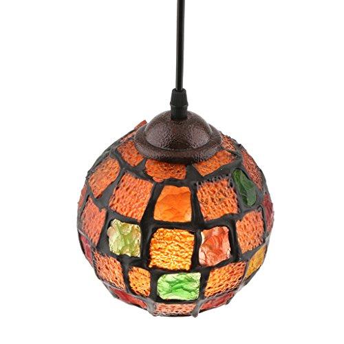 PETSOLA Retro Turco Turco Mosaico Colgante Luz Techo Lámpara Colgante Pantalla - Estilo 4