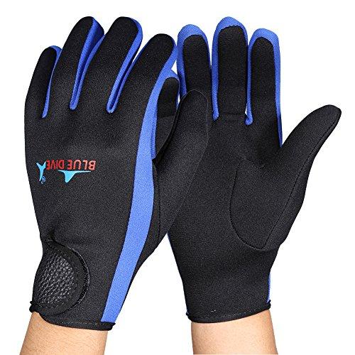 VGEBY 1 par de guantes de buceo de neopreno, para kayak, surf, deportes acuáticos (L-azul)