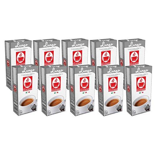 100 Kaffee Kapseln Nespresso kompatibel - Lungo (10 x 10 Kapseln) von Bonini