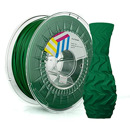 Eolas Prints | Filamento PLA 1.75 | Stampante 3D | Made in Europa | Adatto per l'uso con alimenti e creare giocattoli | 1,75 mm | 1 kg | Verde