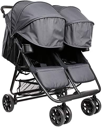 The Twin Zoe XL2 Best Double Stroller Everyday Twin Stroller with Umbrella UPF 50 Tandem Capable product image