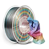 Silk Rainbow PLA 3D Printer Filament 1.75mm,NovaMaker Shiny Multicolor PLA Filament, 1kg Spool(2.2lbs), Dimensional Accuracy +/- 0.02 mm, Fit Most FDM Printer