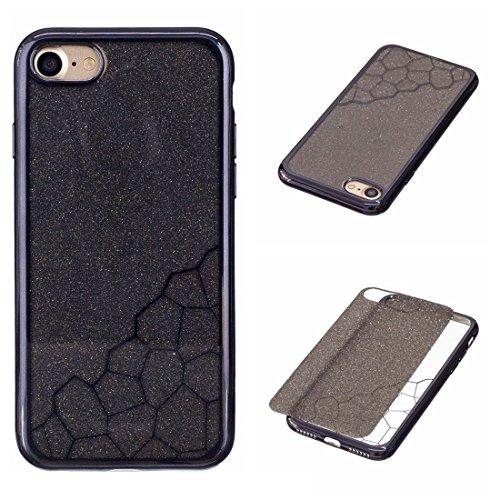 THengGUIFANG-PHONE beschermhoes voor kleine dobbelstenen, krasbestendig, TPU, voor iPhone 7, Blanco Y Gris