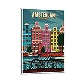 SANDYN Vintage Poster Amsterdam Poster Dekorative Malerei