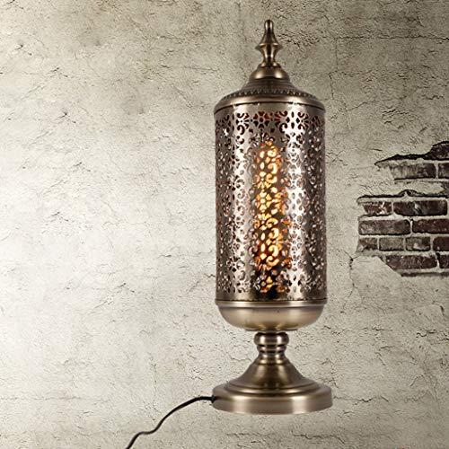 ZhenHe Lámparas de mesa, Personality, lámpara industrial, creativa, restaurante, bar, cafetería, hierro, dormitorio, lámpara de lectura, adecuada para decoración del cabecero, cuarto de baño,