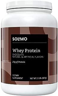Amazon Brand - Solimo Whey Protein Powder, Chocolate,2 Pound (23 Servings)