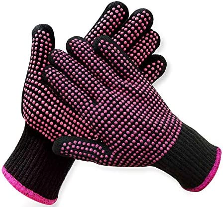 2 Pcs Professional Heat Resistant Glove for Hair Styling Heat Blocking Gloves for Curling Flat product image