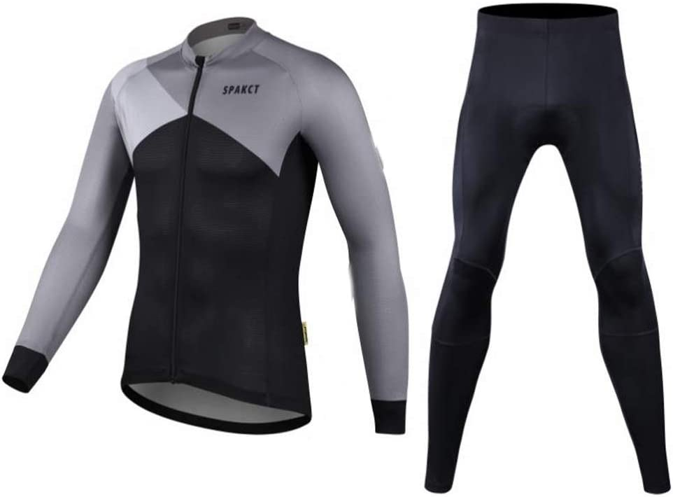 QAZWC-A1 Men's Cycling Long Sleeve 3D Breathable Max 50% OFF Jersey Set Padd New color