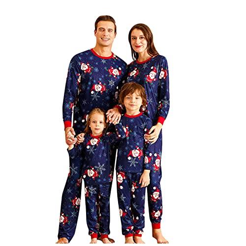 Christmas Pyjama Set Weihnachtsmann Hirsch Outfits Rundhals Pyjamas Set Nachtwäsche Jumpsuit Pulli Schlafanzüge Top Sweatshirt Hausanzug Set Family Kinder Mädchen Jungen Baby Winter Warme