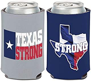 WinCraft Texas Strong 12 oz. 2-sided Can Cooler Coozie