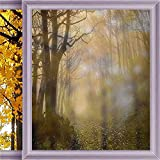 Gothic Decor Frosted Window Film Decorative Window Film Frosting Privacy Sticker No Glue Static Cling 35.4 x 78.7 in