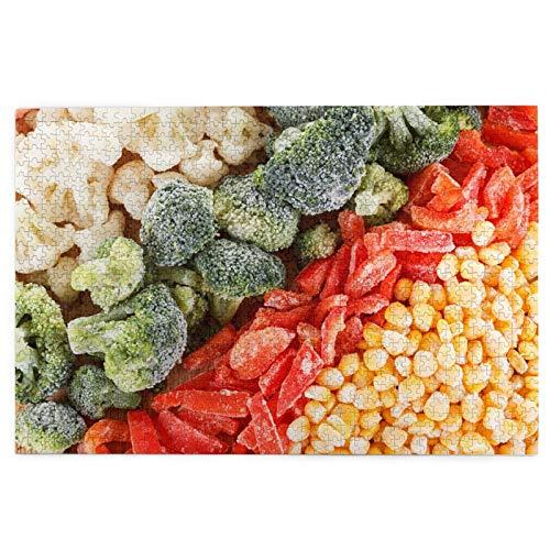 PUIO Sierra calar de 1000 Piezas,Conjunto Surtido de Verduras congeladas Puede ser,Juegos Rompecabezas imágenes para Adultos y niños Regalo graduación de Boda Familiar