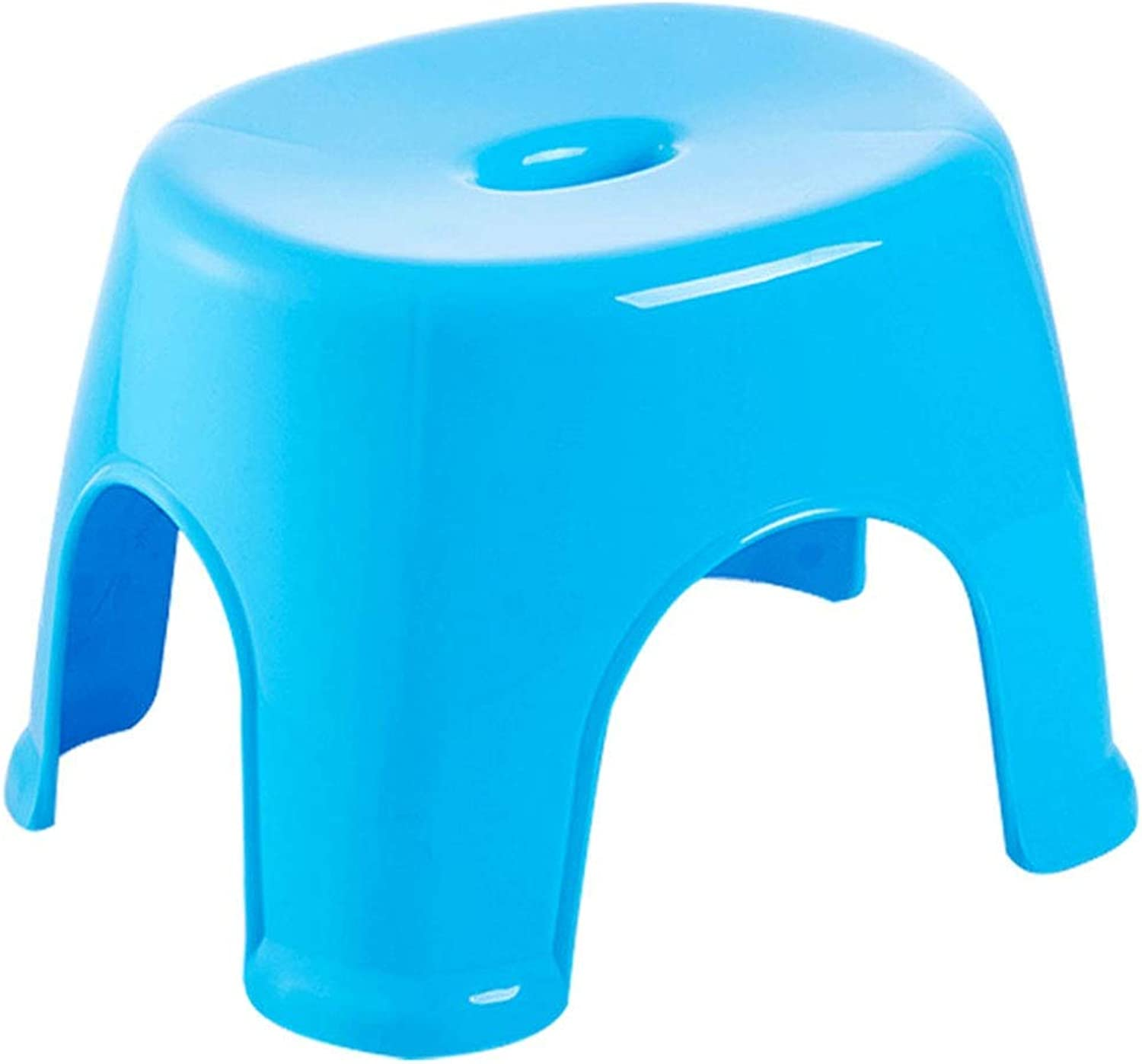 ZHAOYONGLI Footstools,Otools Bathroom Stool Thick Plastic Stool Changing His shoes Stool Fashion Creative Adults (color   bluee, Size   32.5  26  24cm)