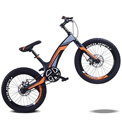 LUO Fahrrad Magnesiumlegierung Kinder 'S Fahrrad, 20 Zoll Mountain Student Fahrrad, Scheibenbremse Single Speed Kinder' S Fahrrad,C,20 Zoll