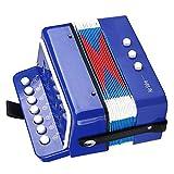 Juguete de Acordeón para Niños, Acordeón de Piano de 7 Teclas con 2 Botones de Graves y una Válvula de Aire Mini Juguete de Teclado de Piano Musical por Principiantes Niños