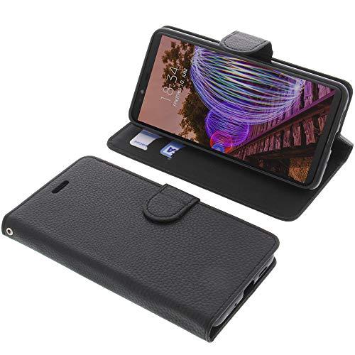 foto-kontor Tasche für JVC J20 Book Style schwarz Schutz Hülle Buch