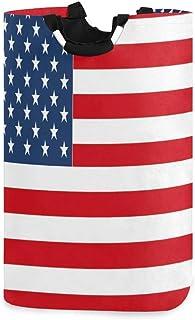 N\A Panier à Linge USA Drapeau Motif Panier à Linge Pliable Oxford vêtements Sales Sac Enfants Jouet Organisateur de Range...