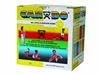 CanDo® Latex Free Exercise Band - 25 yard roll - Yellow - x-light (ラテックスフリーエクササイズバンド 23m 黄色)