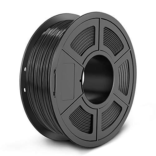 SUNLU PETG 3D Printer Filament, Dimensional Accuracy +/- 0.02 mm, 1 kg Spool, 1.75 mm, Black