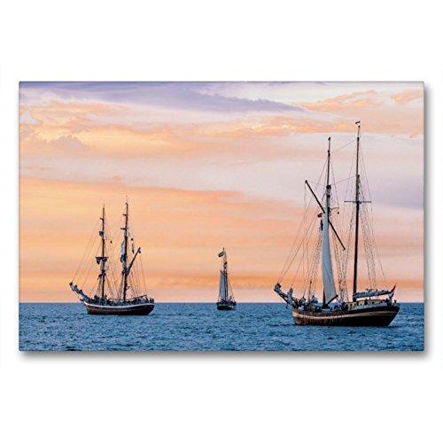Cortavientos en el mar Báltico con luz de Noche, 90x60 cm