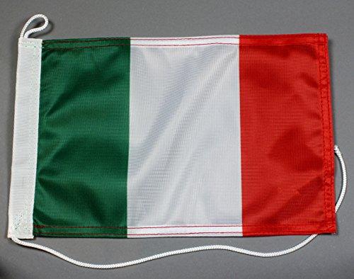 Buddel-Bini Bootsflagge Italien 20 x 30 cm in Profiqualität Flagge Motorradflagge