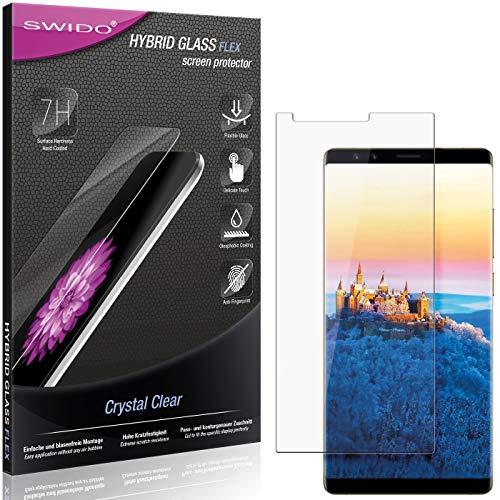 SWIDO Panzerglas Schutzfolie kompatibel mit Nubia Z17S Bildschirmschutz-Folie & Glas = biegsames HYBRIDGLAS, splitterfrei, Anti-Fingerprint KLAR - HD-Clear