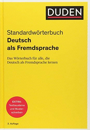 Duden - Deutsch als Fremdsprache - Standardwörterbuch: Das Wörterbuch für alle, die Deutsch als Fremdsprache lernen