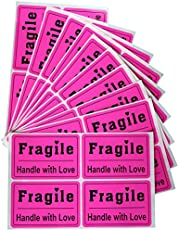 "200pcs 2X3"" Purple Fragile Stickers Sign Shipping Mark Labels Handle with Care Labels"