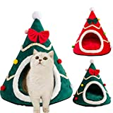 Christmas Pet Bed Cute Soft Cat Tent Plush Pet Bed Hugging Nest Kittens And Small Animals Soft And Comfortable Washable Cat And Dog Bed