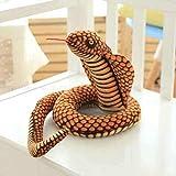 KAIGE Serpiente del pitón 1pc simulación Cobra y Juguetes de Peluche Muñecas Suave Animal de Peluche de Juguete Divertido del cumpleaños for 280cm Azul (Color: Verde 110cm) WKY (Color : 110cm Brown)