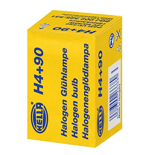 HELLA 8GJ 002 525-531 Glühlampe Performance +90%, Halogen Scheinwerferlampe für Hauptscheinwerfer, H4, 60/55 W, 12V