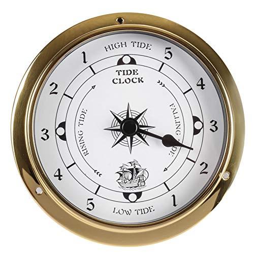 BAWAQAF 1pcs Brass Case Weather Station Barometer Temperature Hygrometer Clock and Clock