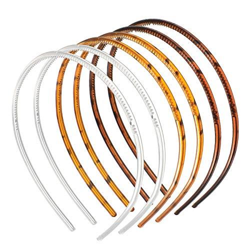 JeoPoom Fasce per Capelli[6 Pezzi], Cerchi per Capelli, Cerchietto per Capelli Hairstyle Hairpin Headband Accessori per Capelli Uomo e Donna(3 Colore)