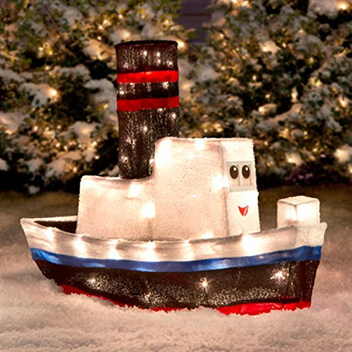 Rudolph Misfit Toys 3D BOAT Outdoor ChristmasTinsel Decoration Yard Dec