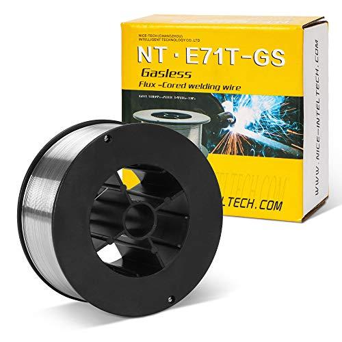 Gasless Flux-Cored Welding Wire,Carton Steel Self Shielded,E71t-GS,0.030-Diameter,2-Pound
