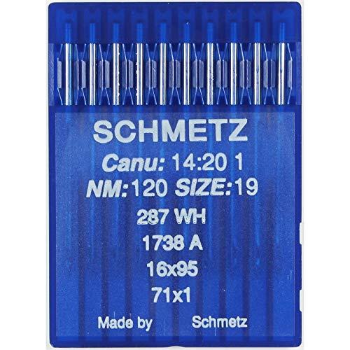 La Canilla ® - 10 Agujas para Máquina de Coser Industrial Schmetz DBx1 1738(A) 16x231 Grosor 120/19 Pistón Redondo