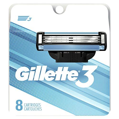 Gillette 3 Men's Razor Blade Refills, 8 Count