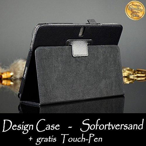 Tasche für Samsung Galaxy Note 10.1 Zoll (2014 Edition) SM-P600 P601 P605 Smart Slim Case Book Cover Stand Flip Tab Pro P600N P601N P605N (Schwarz)