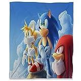 ARYAGO - Manta de viaje (180 x 230 cm, Sonic The Hedgehog, mullida y acogedora manta para sofá de viaje, Sonic Force