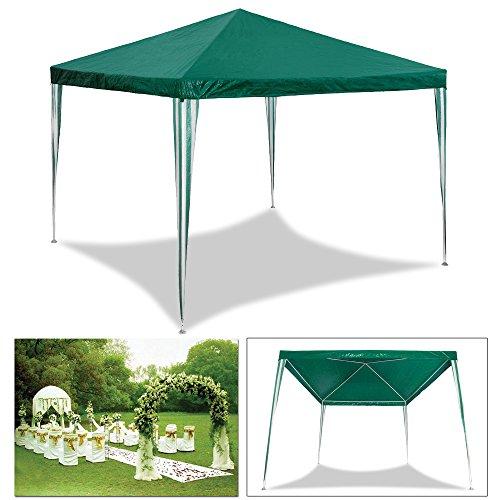 HG 3 x 3 m pérgolas para boda sombría, marquesina toldos Carpa Tienda para playa camping jardín resistente al agua Pavillion, color verde
