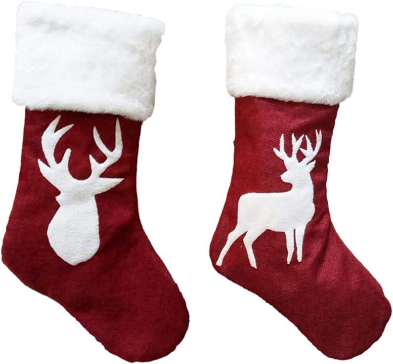 Excellent IMIKEYA 2 Pcs Christmas Stocking 10in 18 Fabric SALENEW very popular x Tree