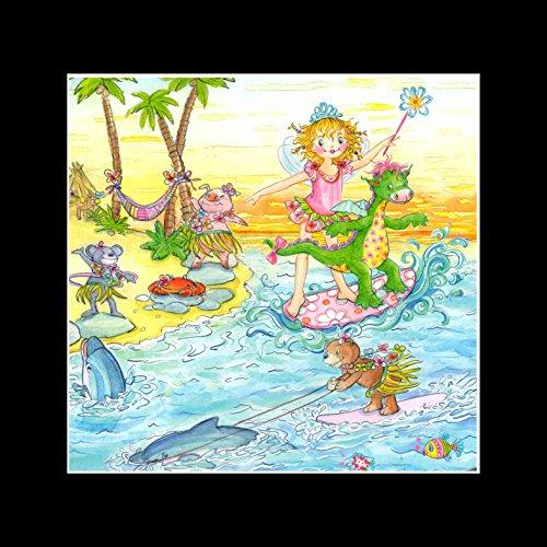 Stick It On Your Wall Prinzessin Lillifee–Surfen mit Dinosaurier Mini Poster–40x 40cm