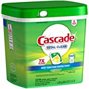 Cascade Total Clean 7X POWER Dishwashing Detergent Action Pacs, 105 Count